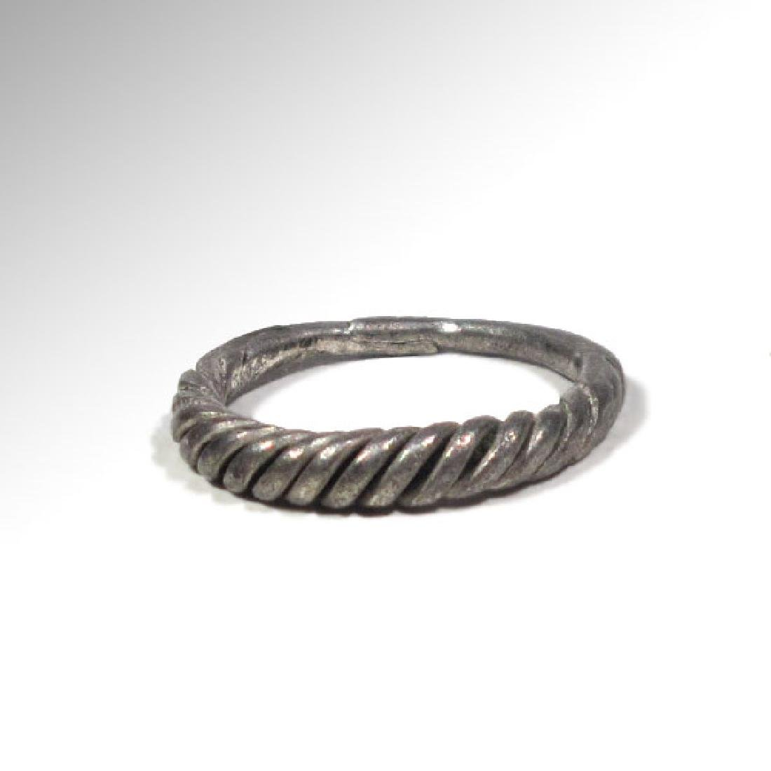 Viking Twisted Silver Ring, 9th -11th Century A.D.