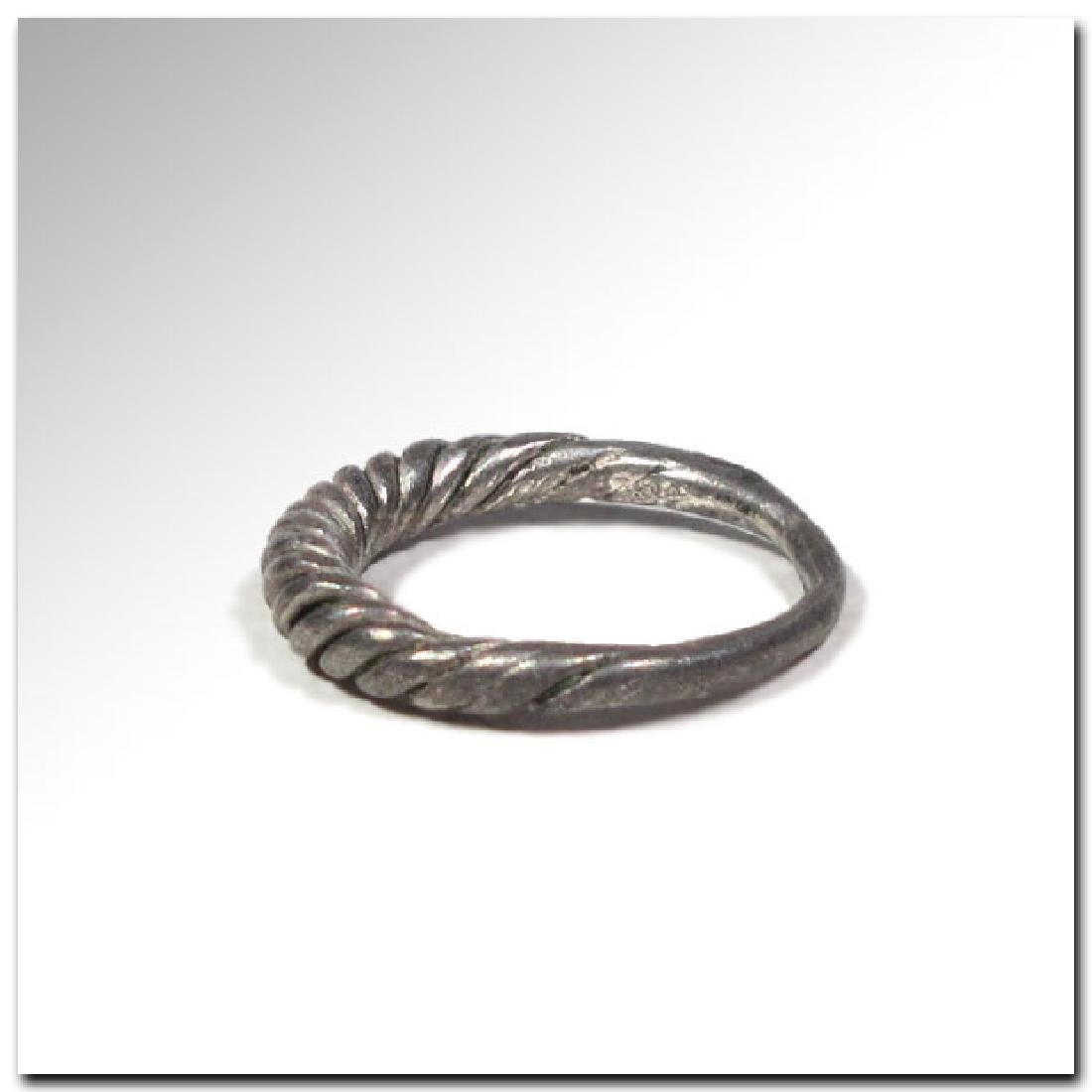 Viking Twisted Silver Ring, 9th -11th Century A.D. - 3