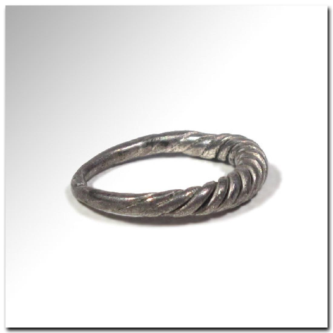 Viking Twisted Silver Ring, 9th -11th Century A.D. - 4