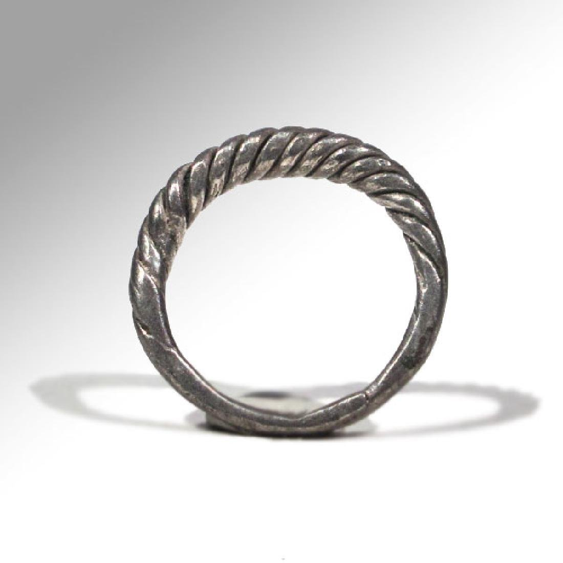 Viking Twisted Silver Ring, 9th -11th Century A.D. - 5