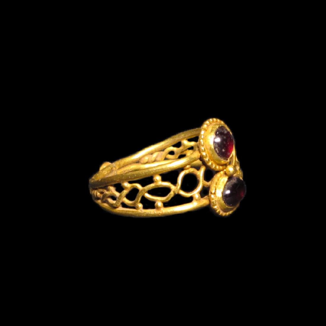 Roman Gold and Garnet Ring, c. 2nd-3rd Century A.D. - 2