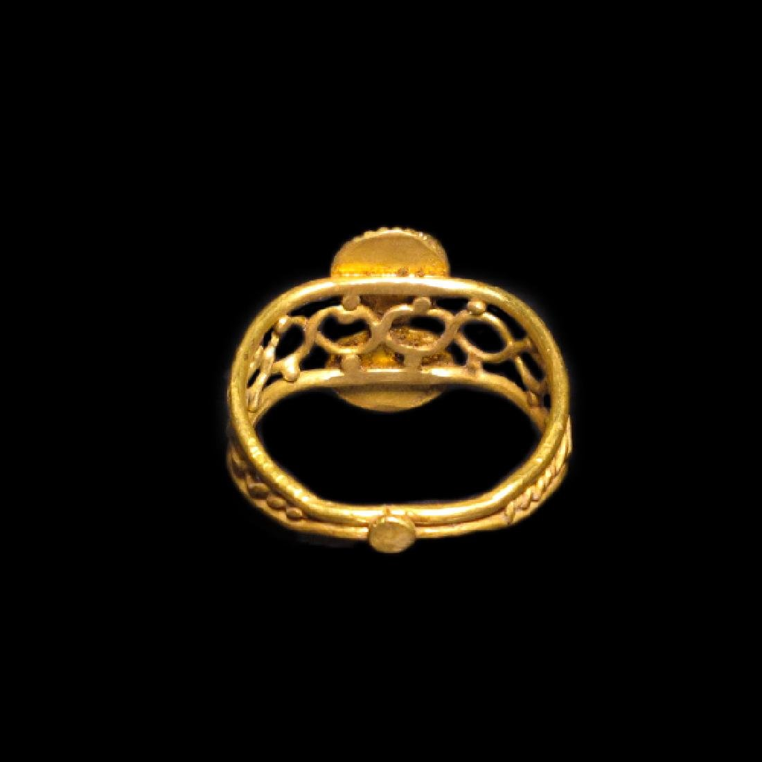 Roman Gold and Garnet Ring, c. 2nd-3rd Century A.D. - 4