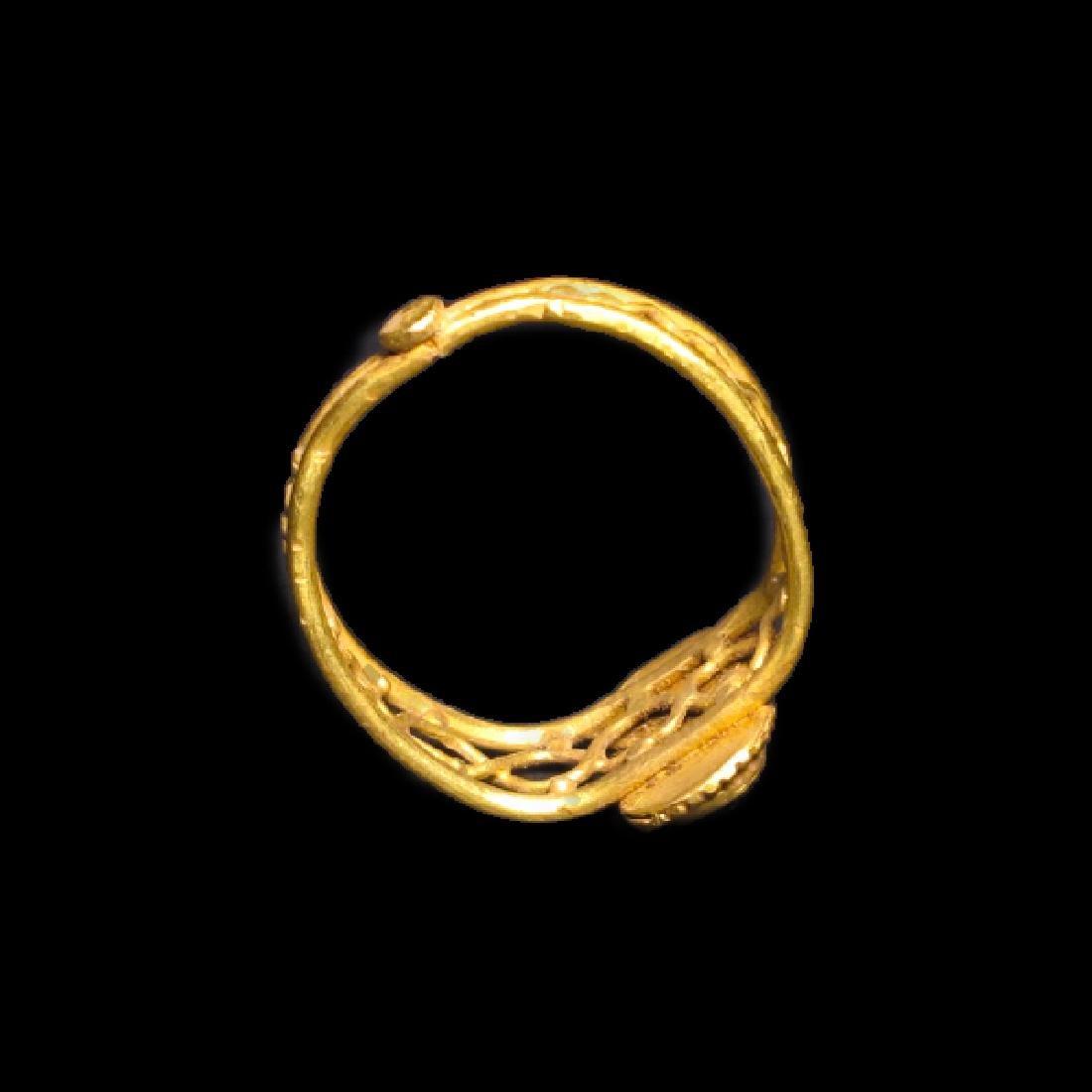 Roman Gold and Garnet Ring, c. 2nd-3rd Century A.D. - 5