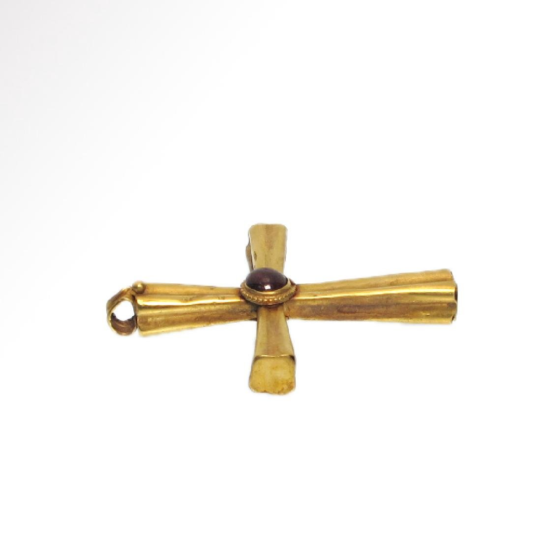 Byzantine Gold and Garnet Cross, 10th-12th Century A.D. - 2