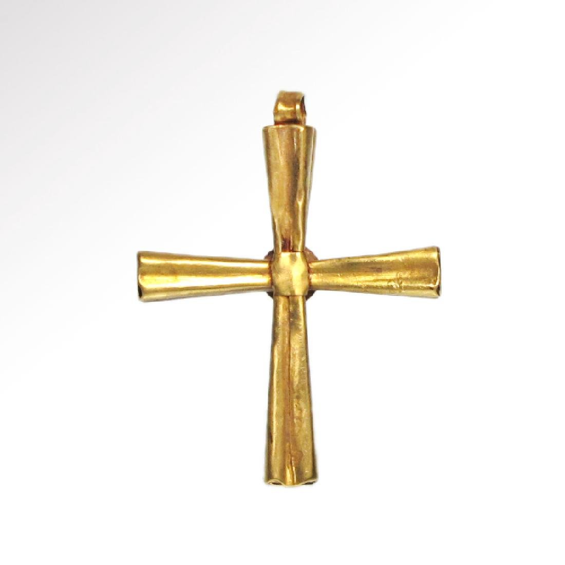 Byzantine Gold and Garnet Cross, 10th-12th Century A.D. - 3