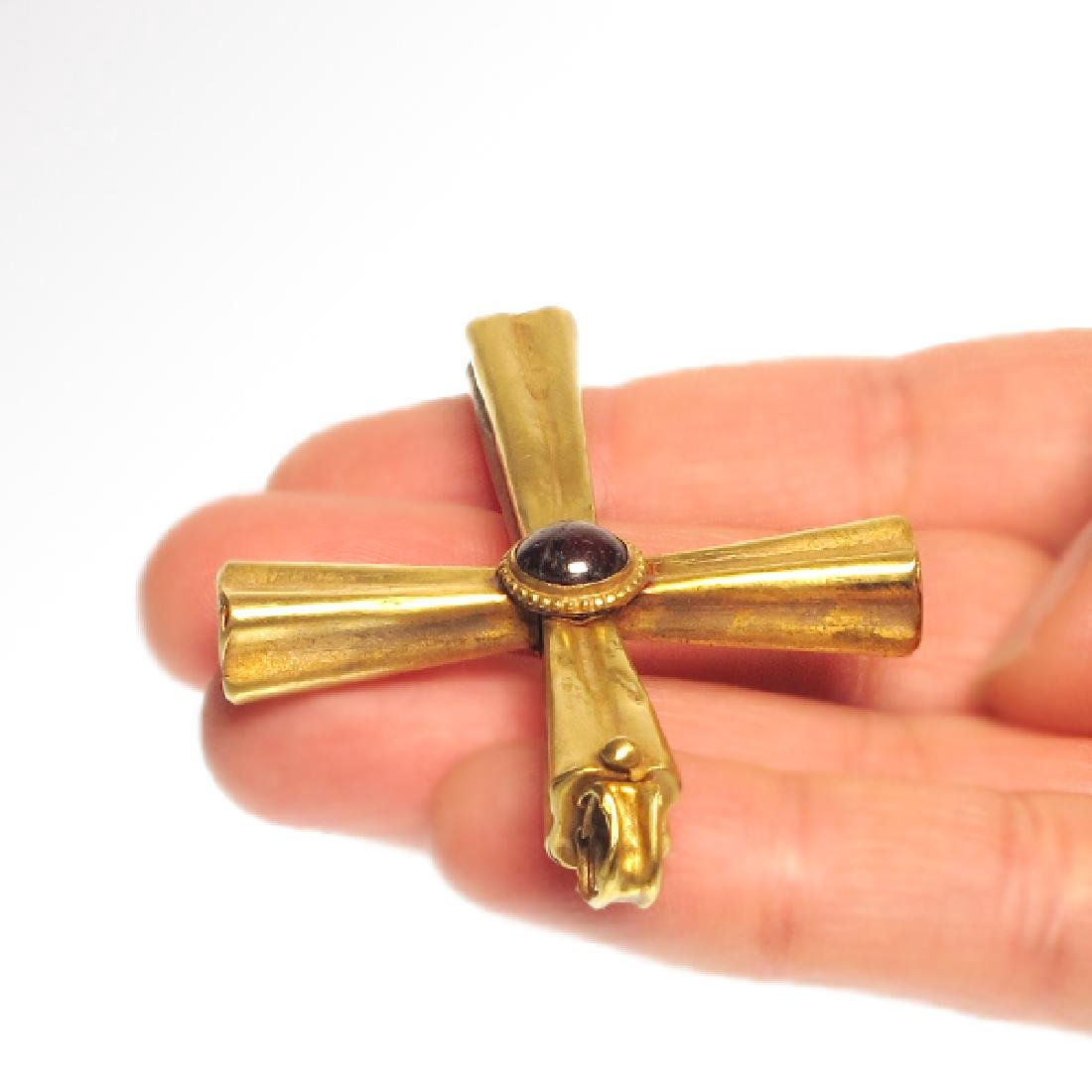 Byzantine Gold and Garnet Cross, 10th-12th Century A.D. - 4