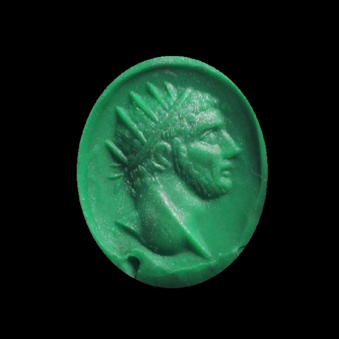 Roman Amethyst Intaglio, Head of Emperor Philip I - 2