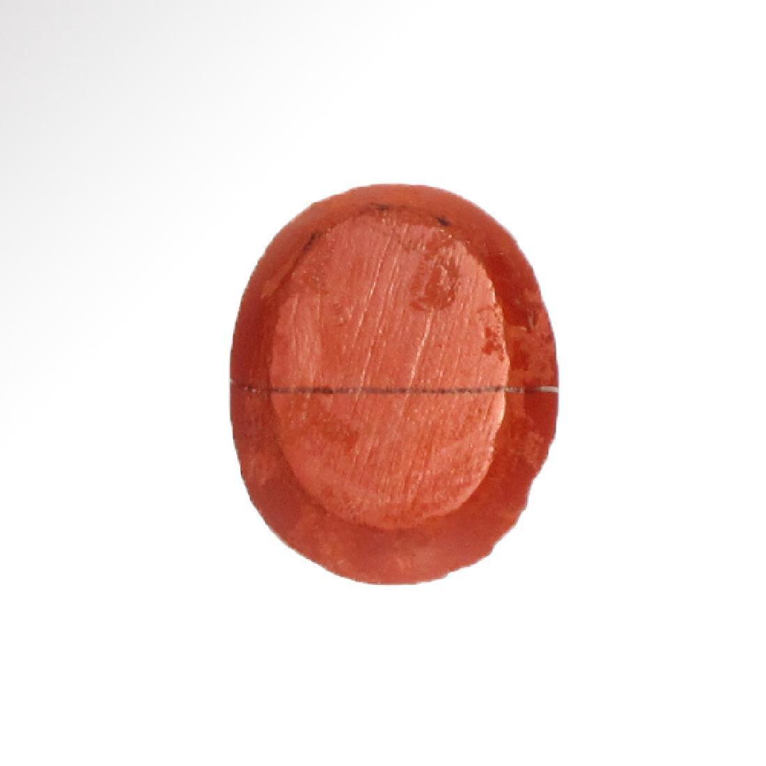 Roman Red Jasper Intaglio with Head of Emperor - 4
