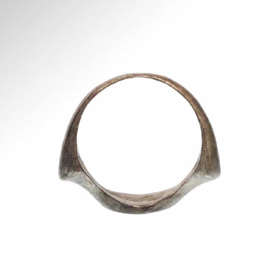 Byzantine Silver Ring with Monogram Cross - 6