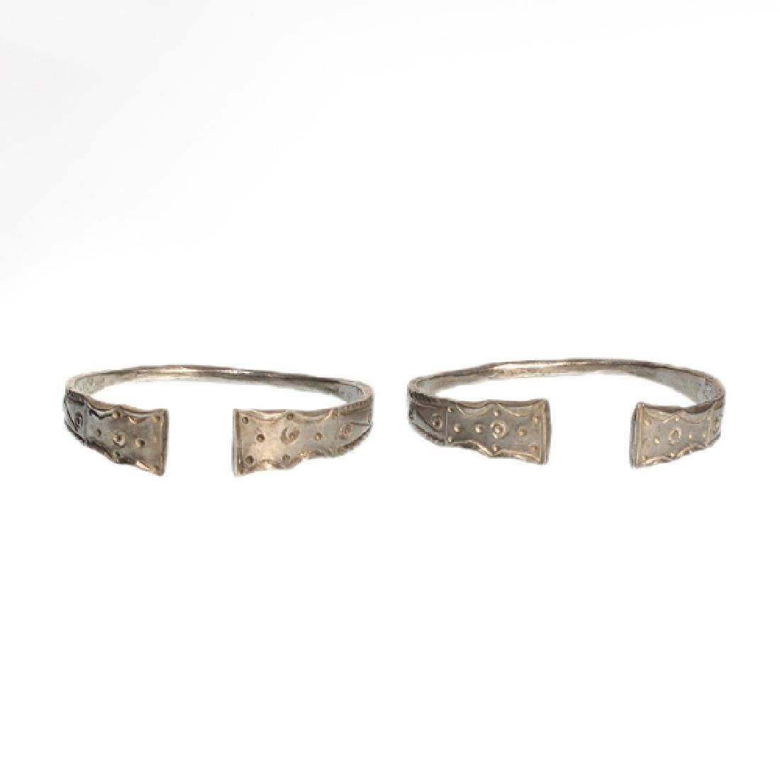 Pair of Celtic Silver Bracelets, Iron Age