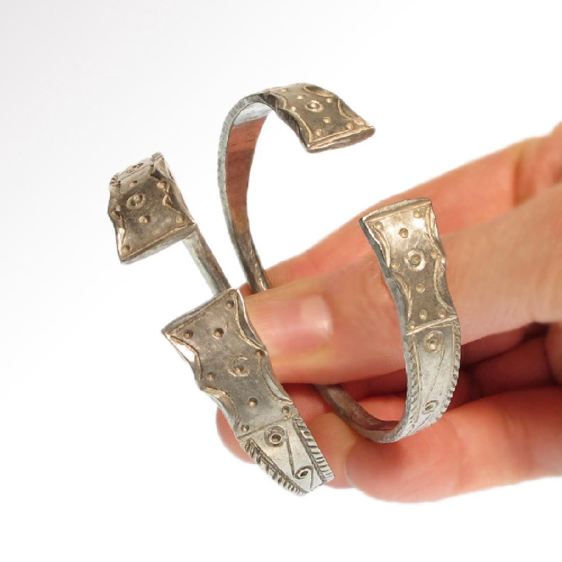 Pair of Celtic Silver Bracelets, Iron Age - 2