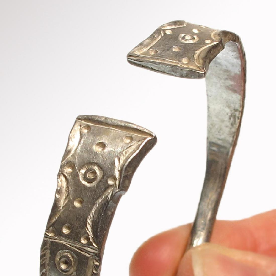 Pair of Celtic Silver Bracelets, Iron Age - 3