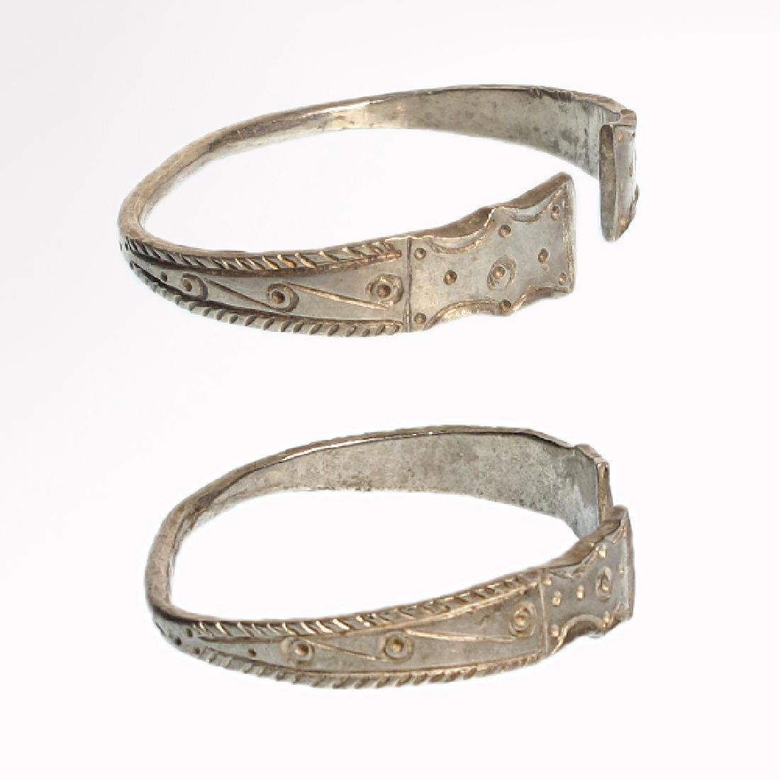 Pair of Celtic Silver Bracelets, Iron Age - 5