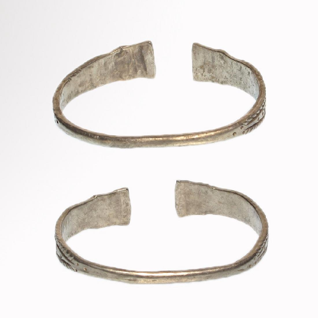 Pair of Celtic Silver Bracelets, Iron Age - 6