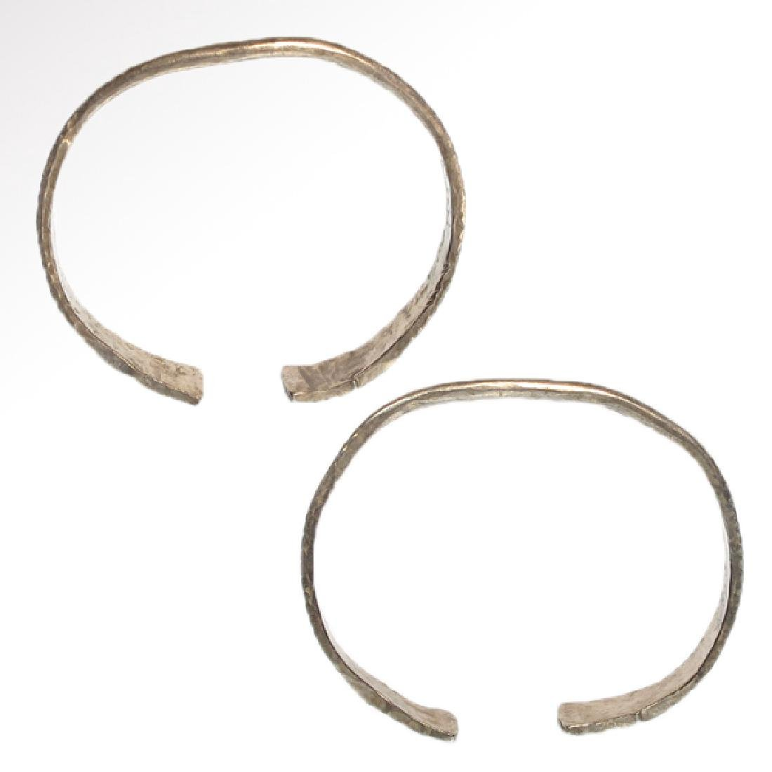 Pair of Celtic Silver Bracelets, Iron Age - 7