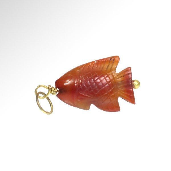 Egyptian Cornelian Fish Amulet, c. 154-1450 B.C.