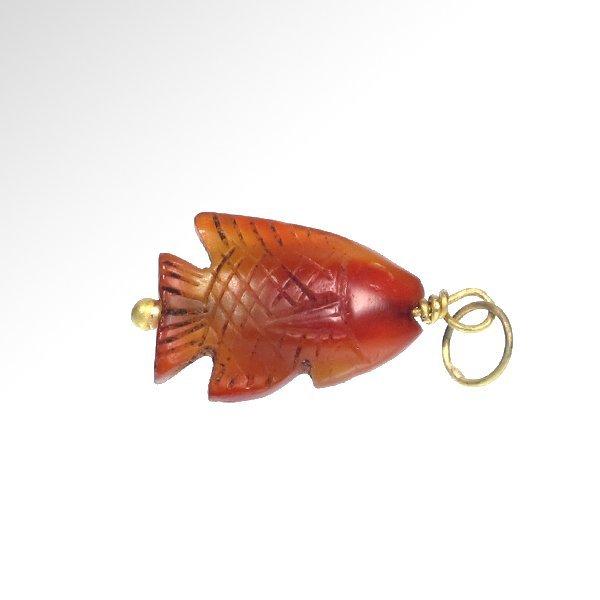 Egyptian Cornelian Fish Amulet, c. 154-1450 B.C. - 3