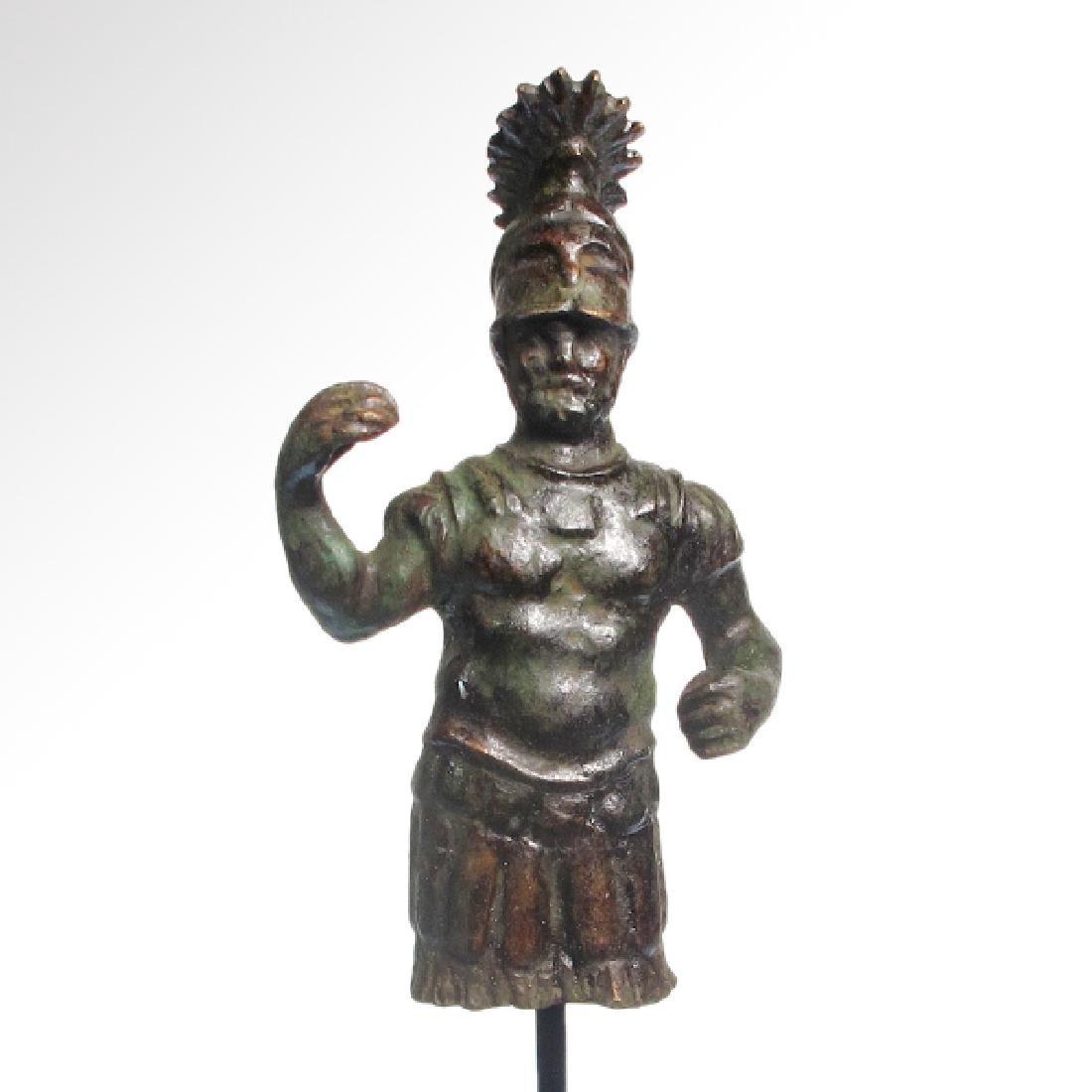 Roman Bronze Figure of Mars, c. 1st-3rd Century A.D.