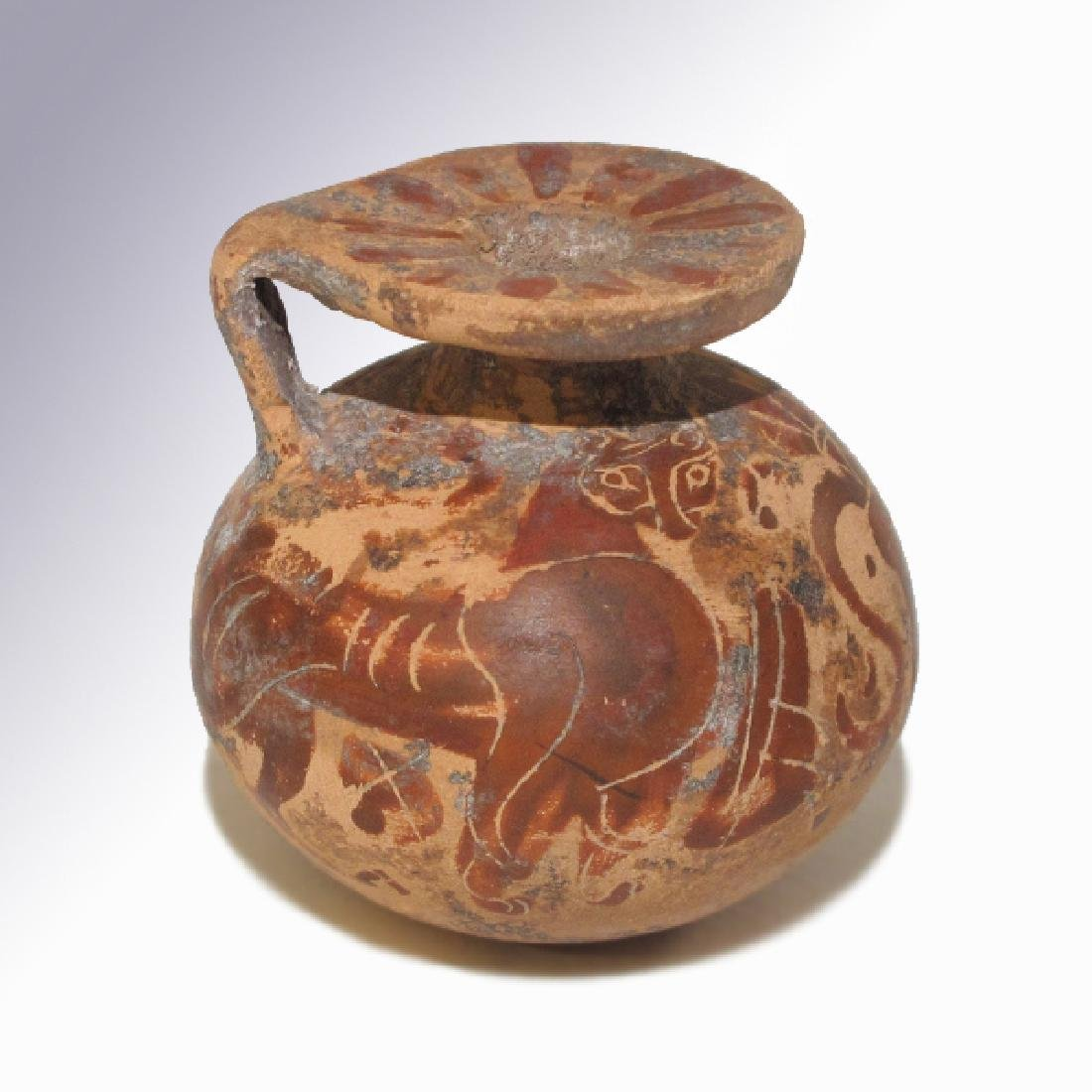Corinthian Painted Aryballos, 7th- 6th Century B.C. - 2