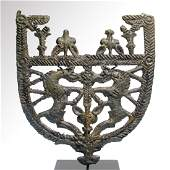 Scythian-Sarmatian Open-Work Bronze Attachment, c.