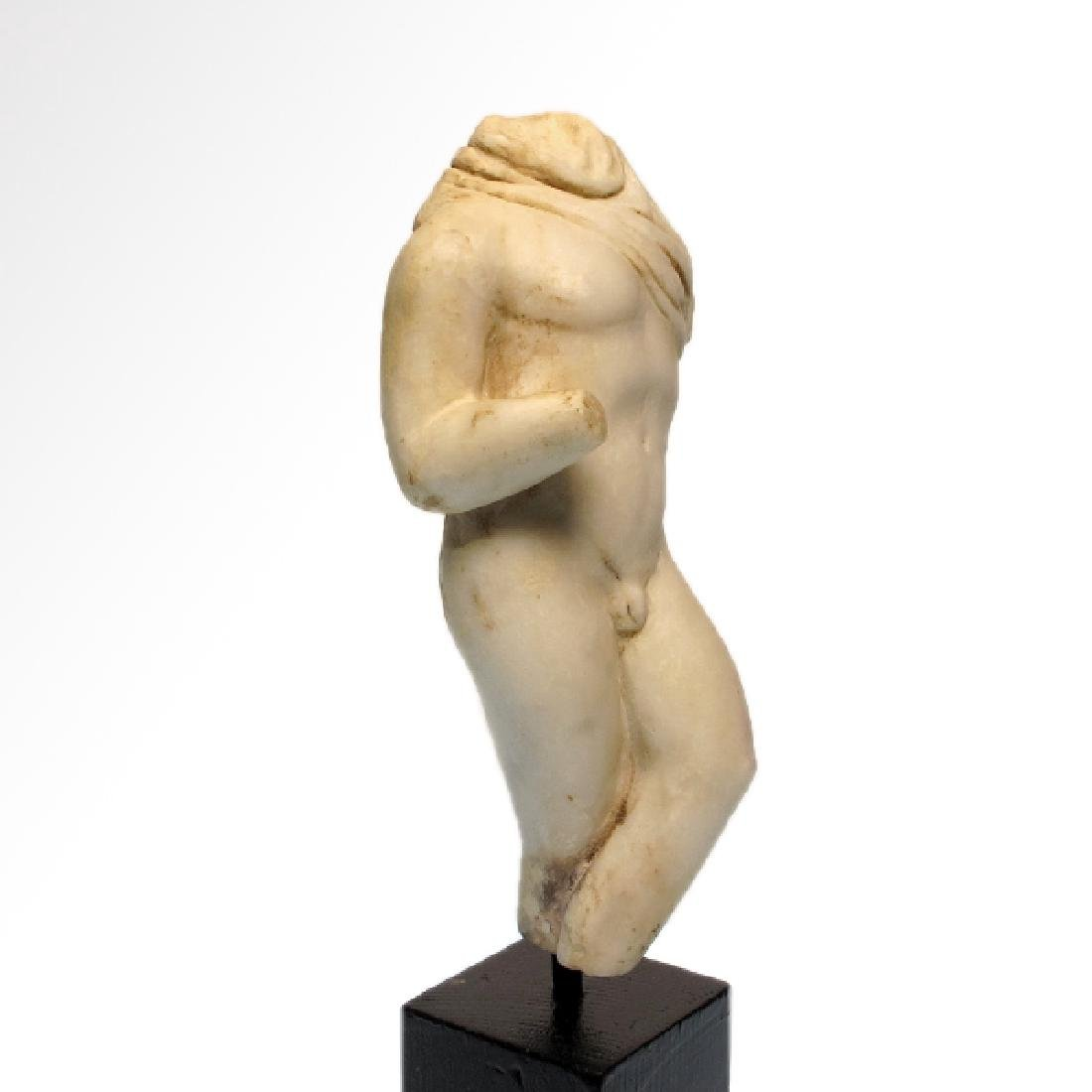 Roman Marble Figure of a Nude Young Man, c. 2nd-3rd - 2