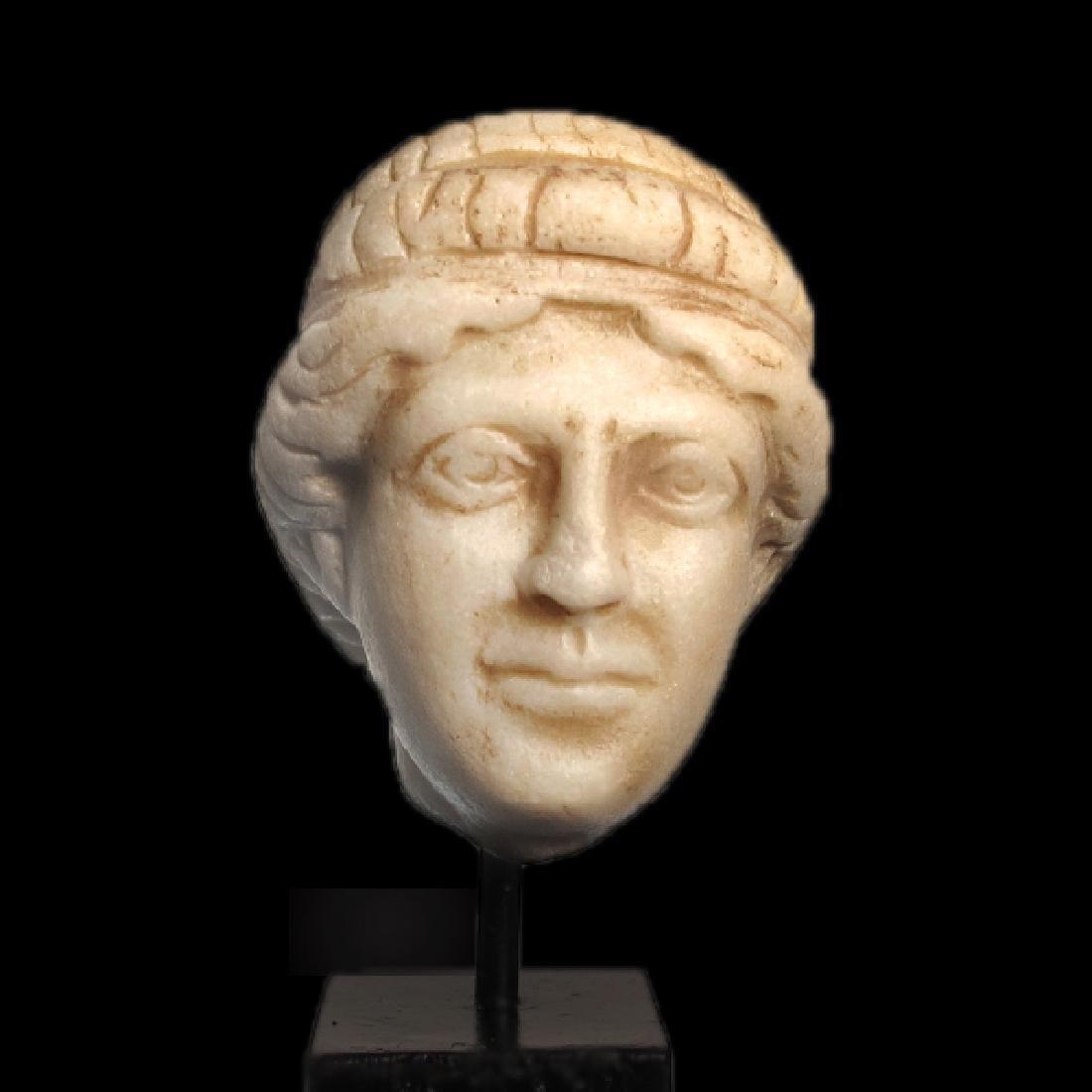 Roman Marble Head of Apollo, c. 2nd Century A.D.