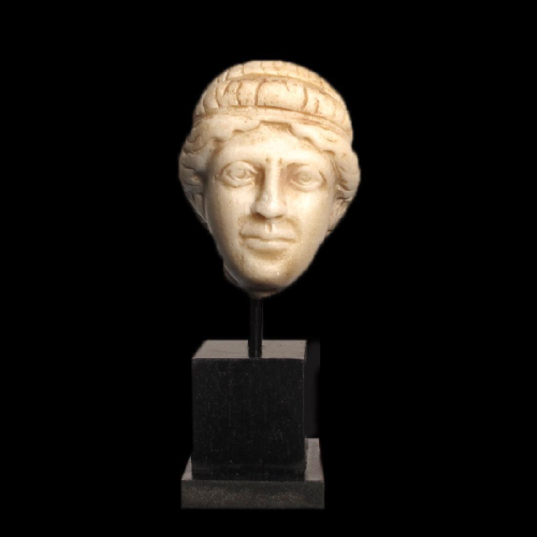 Roman Marble Head of Apollo, c. 2nd Century A.D. - 2