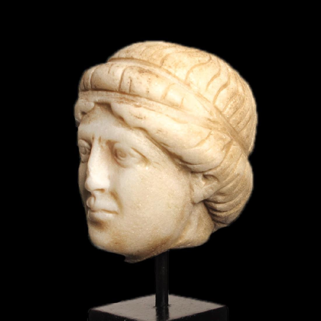 Roman Marble Head of Apollo, c. 2nd Century A.D. - 3