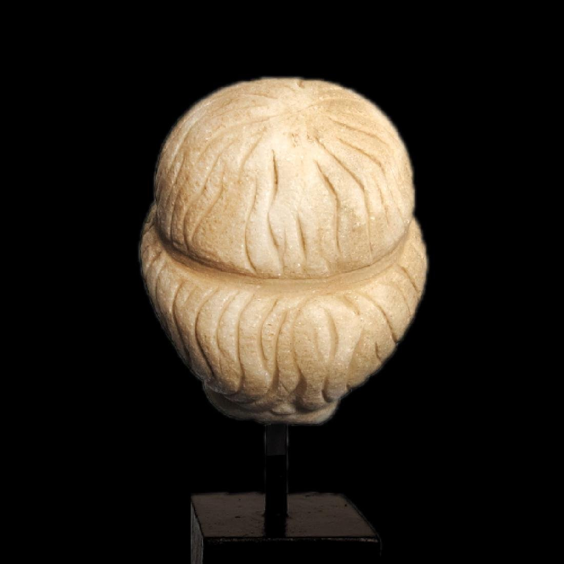 Roman Marble Head of Apollo, c. 2nd Century A.D. - 5