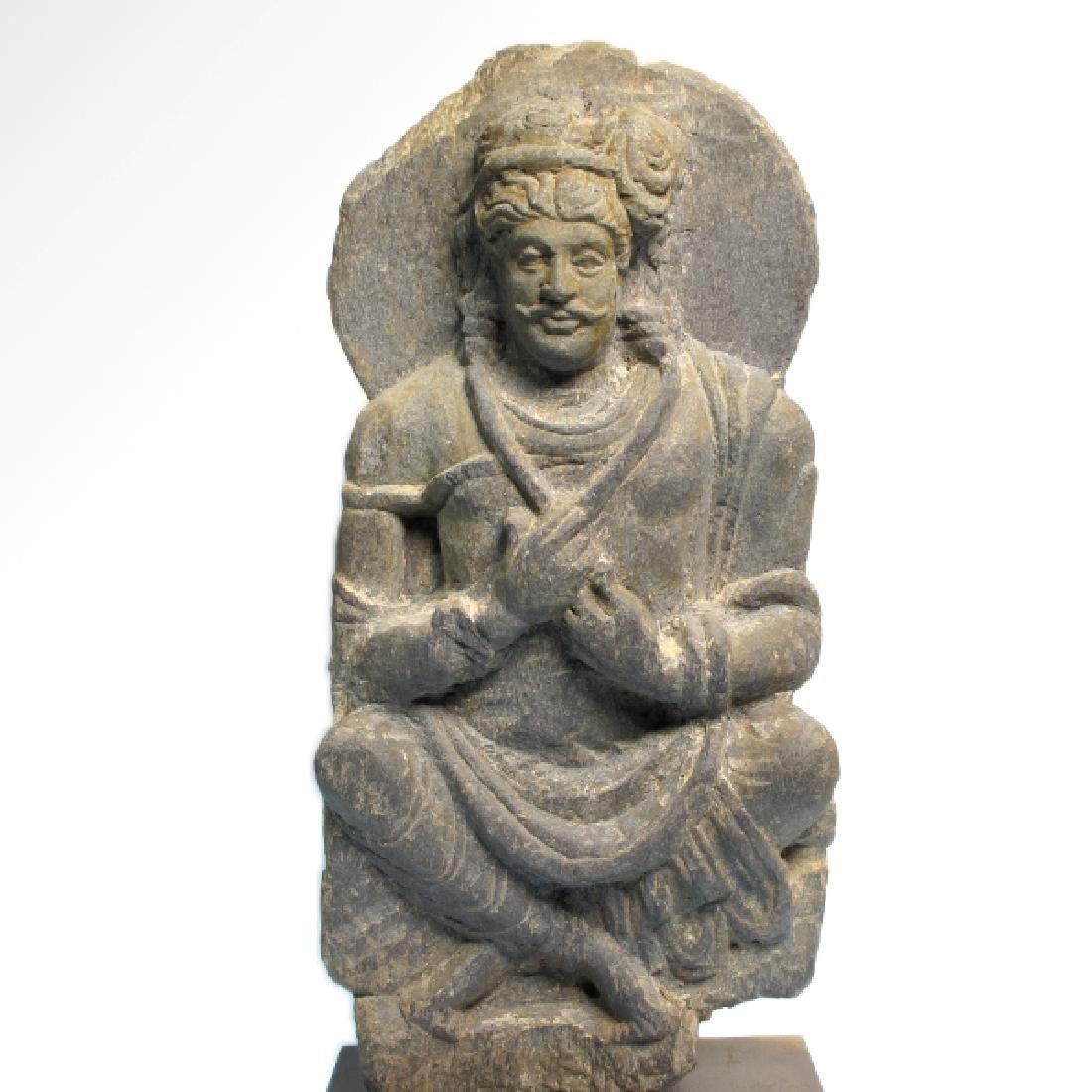 Gandhara Schist Relief Figure of a Bodhisattva, c.