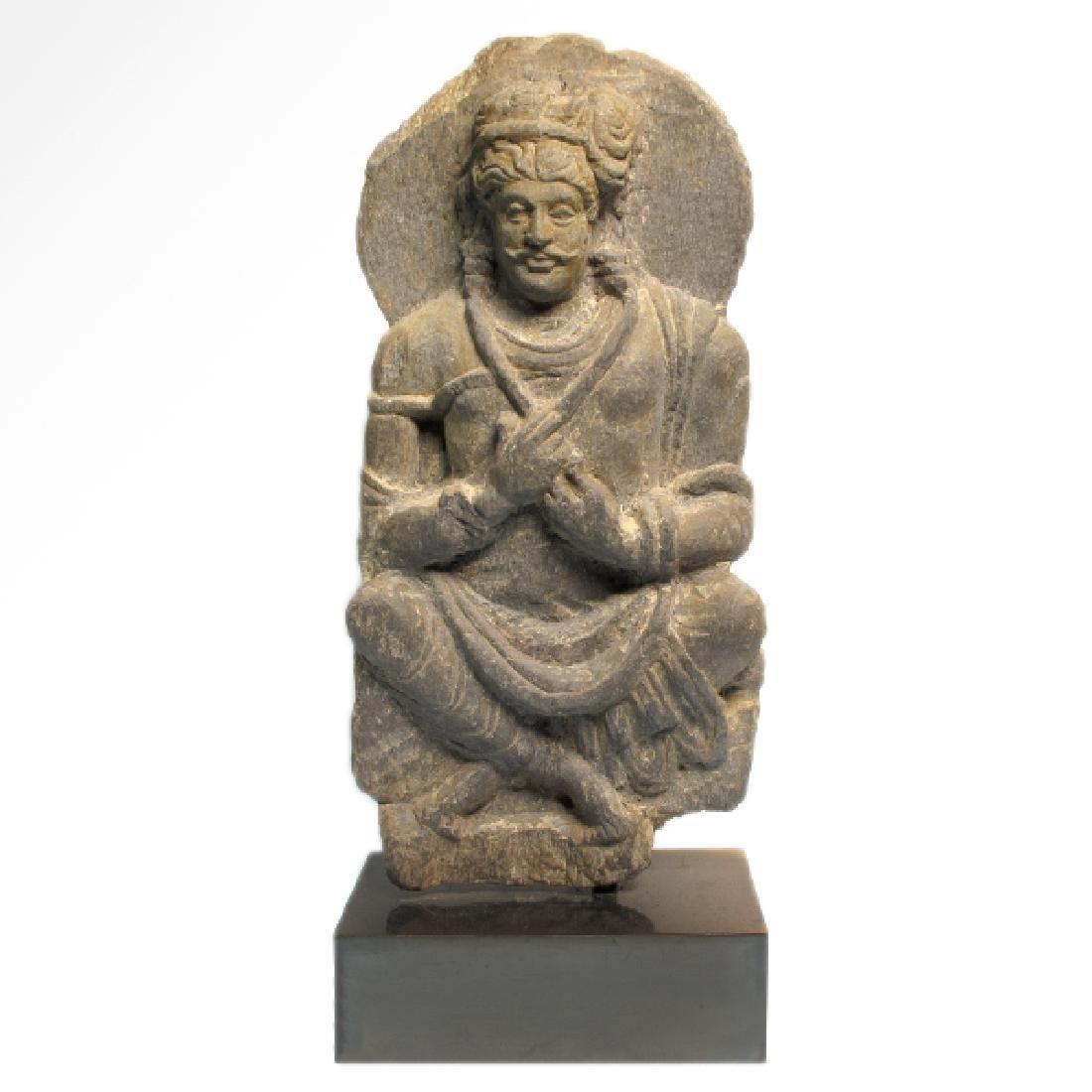 Gandhara Schist Relief Figure of a Bodhisattva, c. - 2