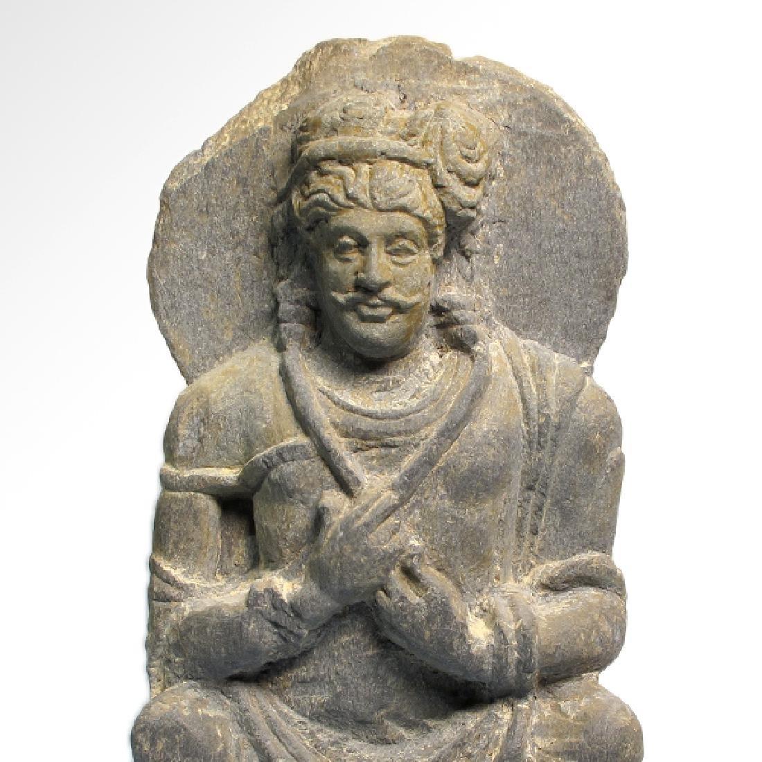 Gandhara Schist Relief Figure of a Bodhisattva, c. - 3