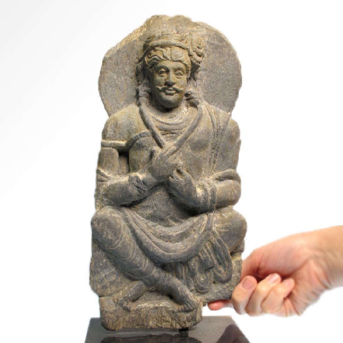 Gandhara Schist Relief Figure of a Bodhisattva, c. - 4