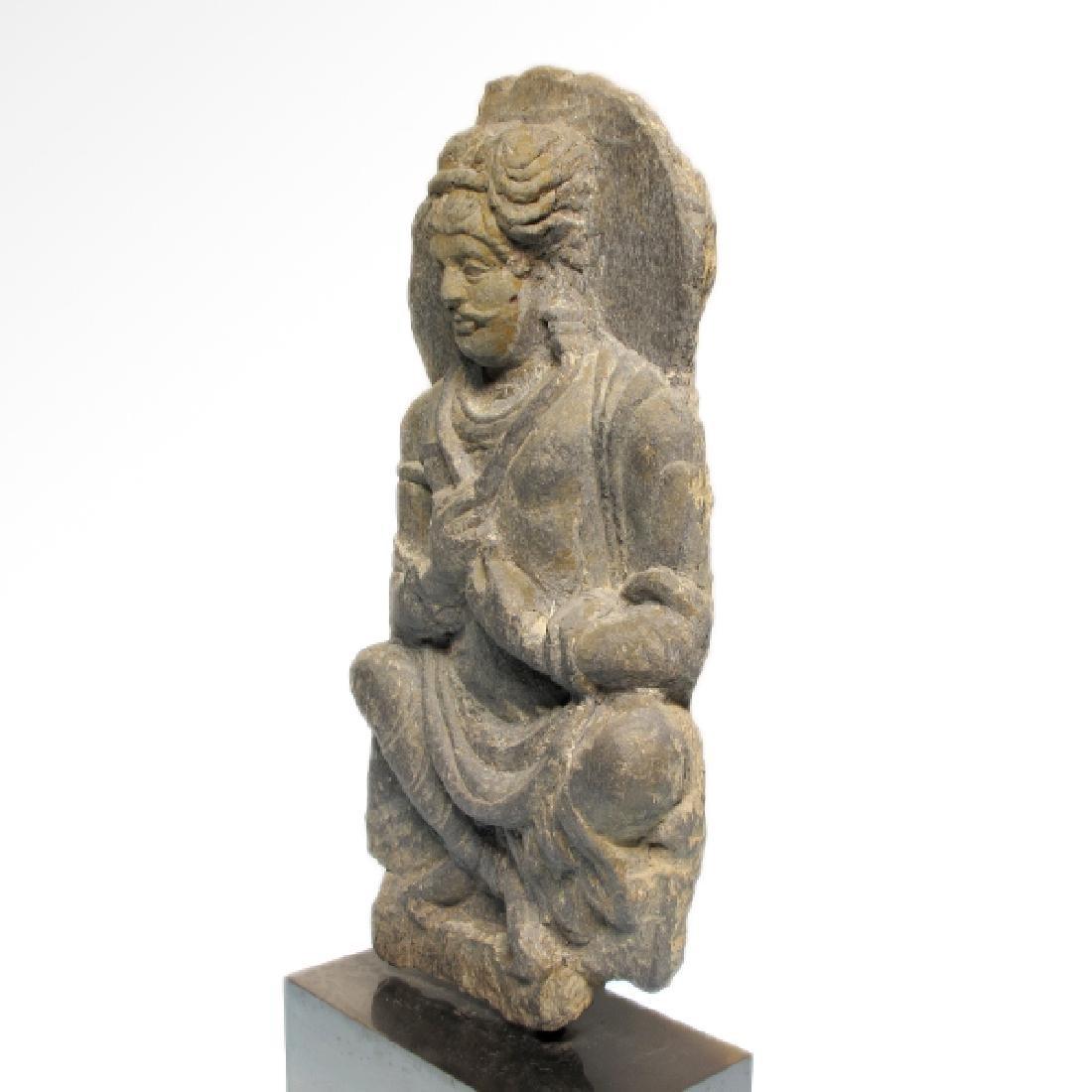 Gandhara Schist Relief Figure of a Bodhisattva, c. - 5