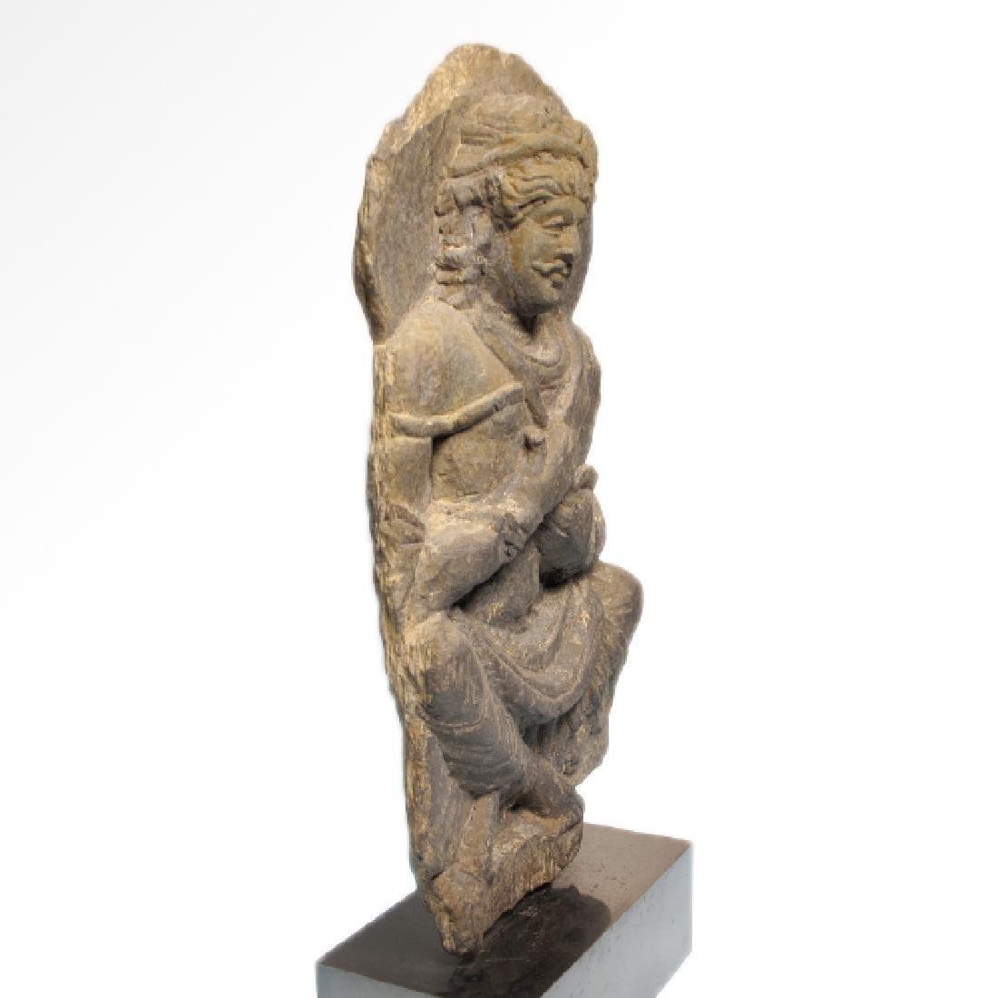 Gandhara Schist Relief Figure of a Bodhisattva, c. - 6