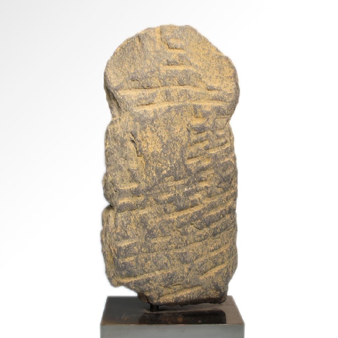 Gandhara Schist Relief Figure of a Bodhisattva, c. - 7