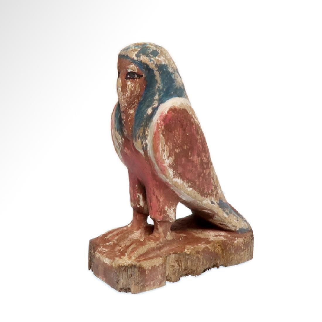 Egyptian Wooden Polychrome BA-BIRD, c.n1000-800 B.C.