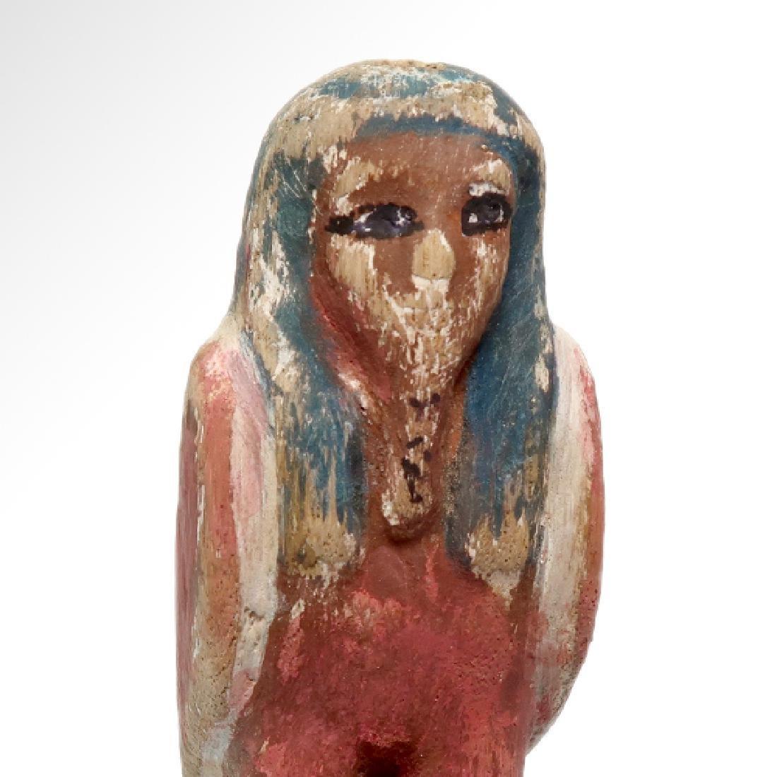 Egyptian Wooden Polychrome BA-BIRD, c.n1000-800 B.C. - 2