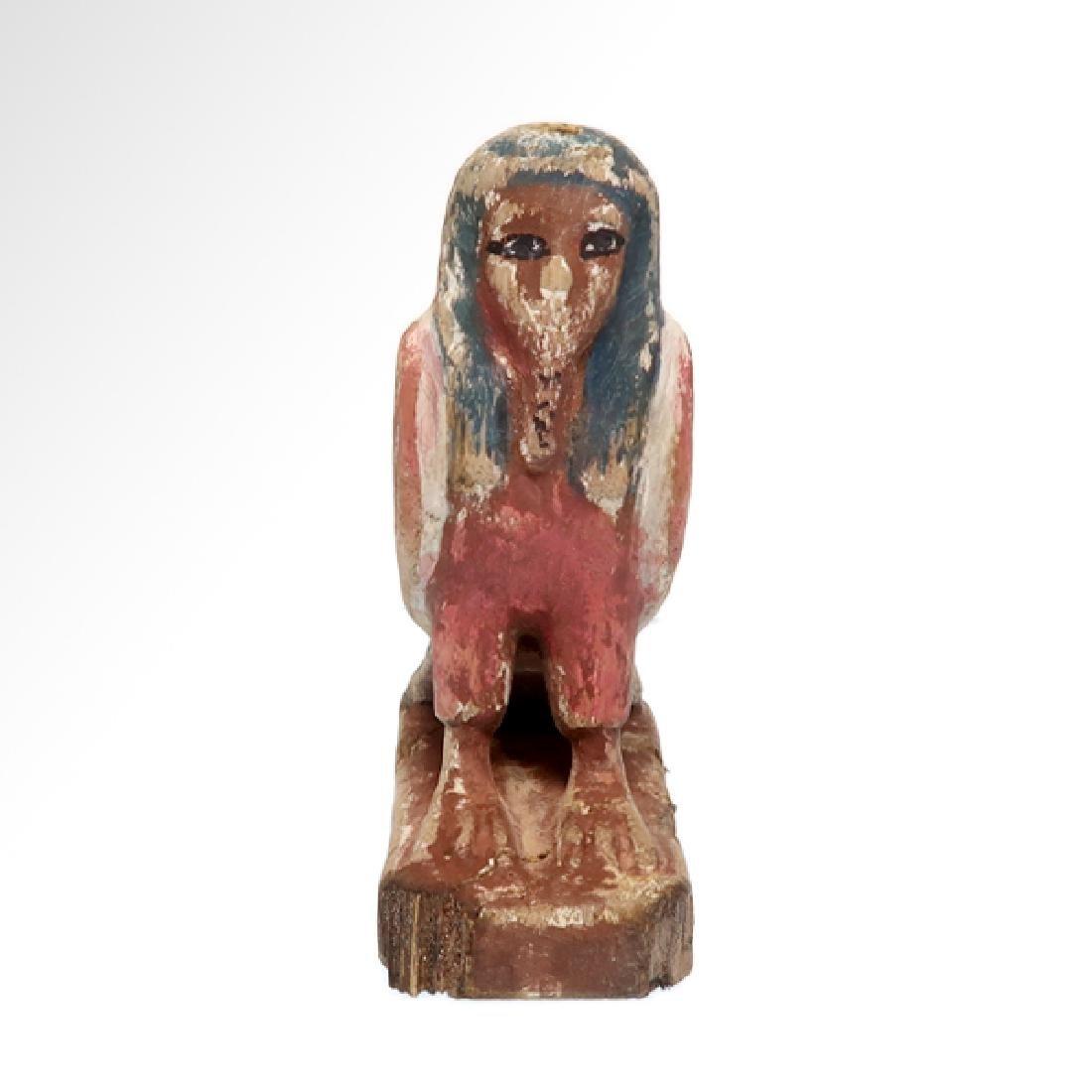 Egyptian Wooden Polychrome BA-BIRD, c.n1000-800 B.C. - 3