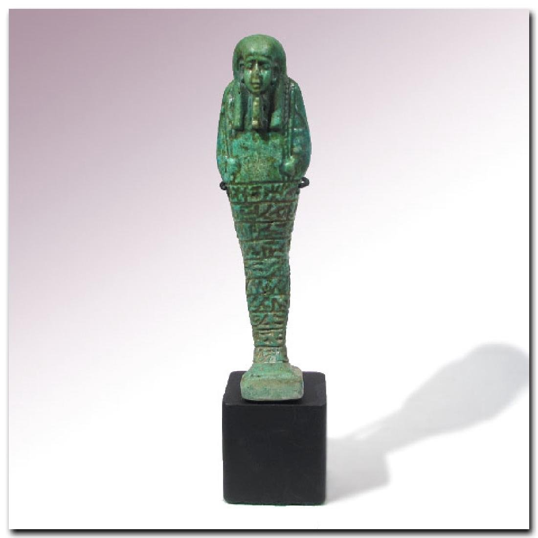 Large Egyptian Faience Shabti, Inscribed to the Royal - 2