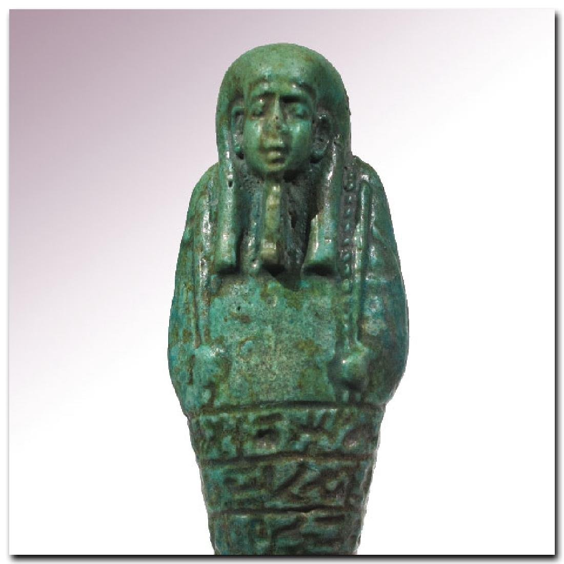 Large Egyptian Faience Shabti, Inscribed to the Royal - 3