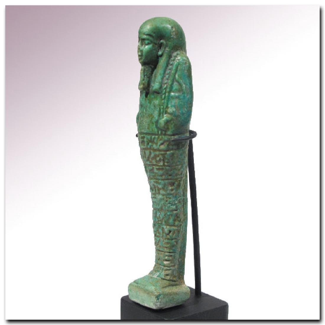 Large Egyptian Faience Shabti, Inscribed to the Royal - 5