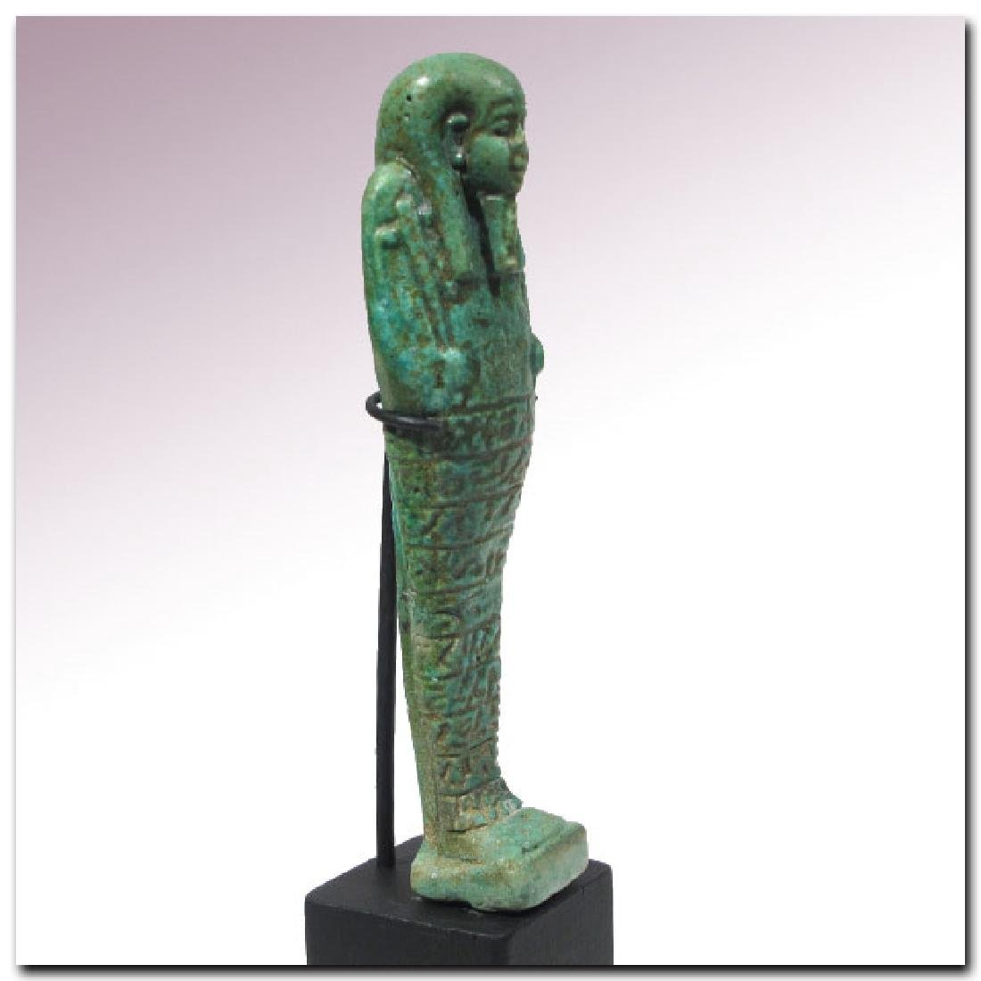 Large Egyptian Faience Shabti, Inscribed to the Royal - 6