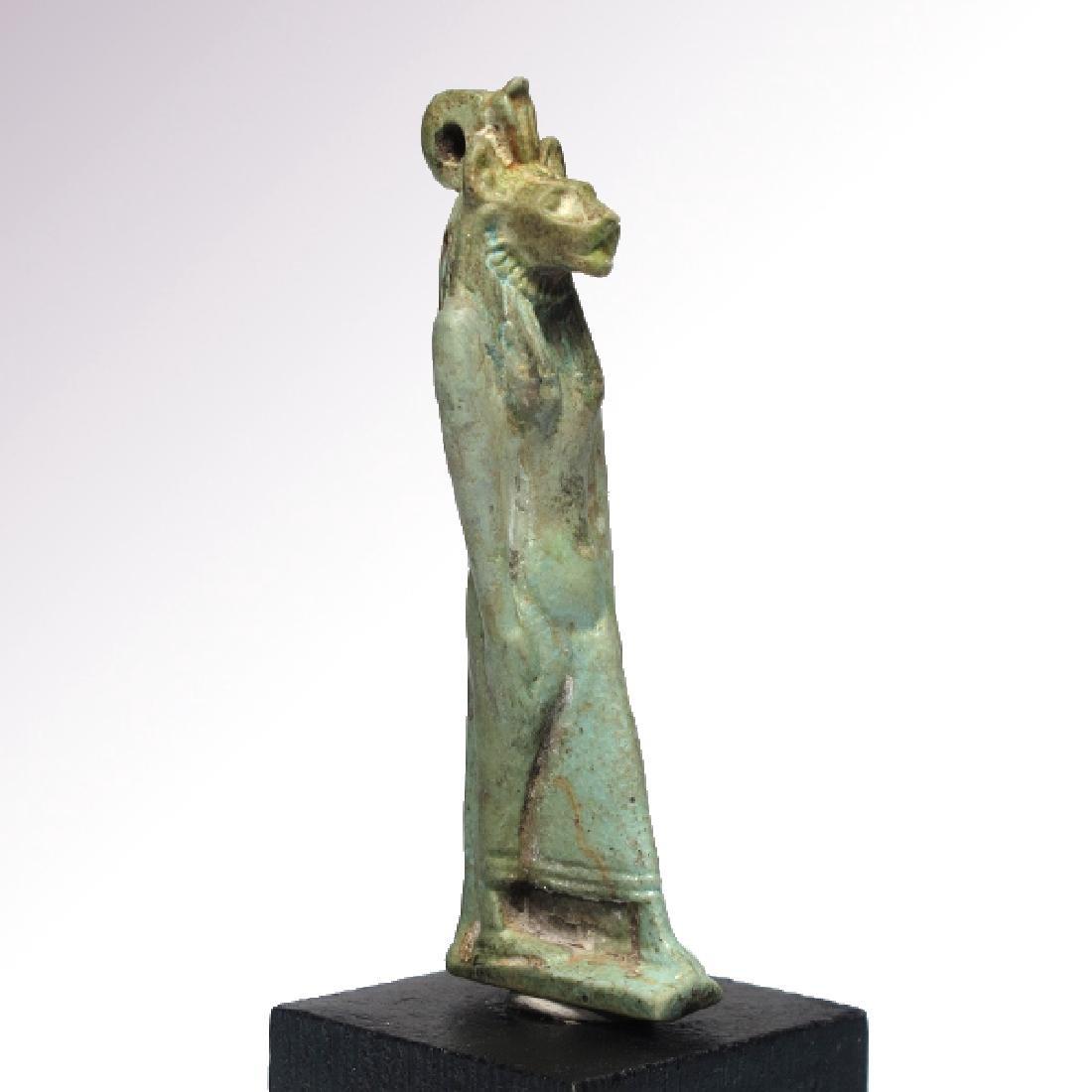 Large Egyptian Faience Amulet of Sekhmet, c. 750 B.C.