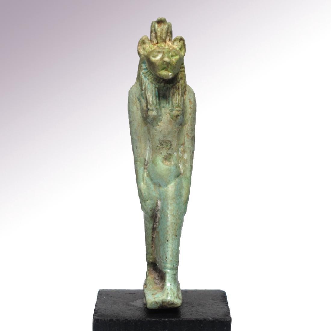 Large Egyptian Faience Amulet of Sekhmet, c. 750 B.C. - 4