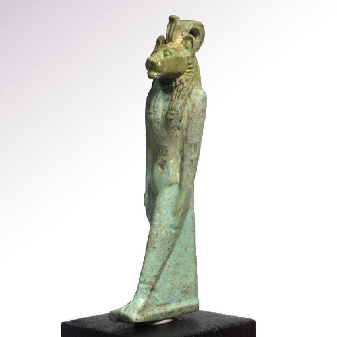 Large Egyptian Faience Amulet of Sekhmet, c. 750 B.C. - 5