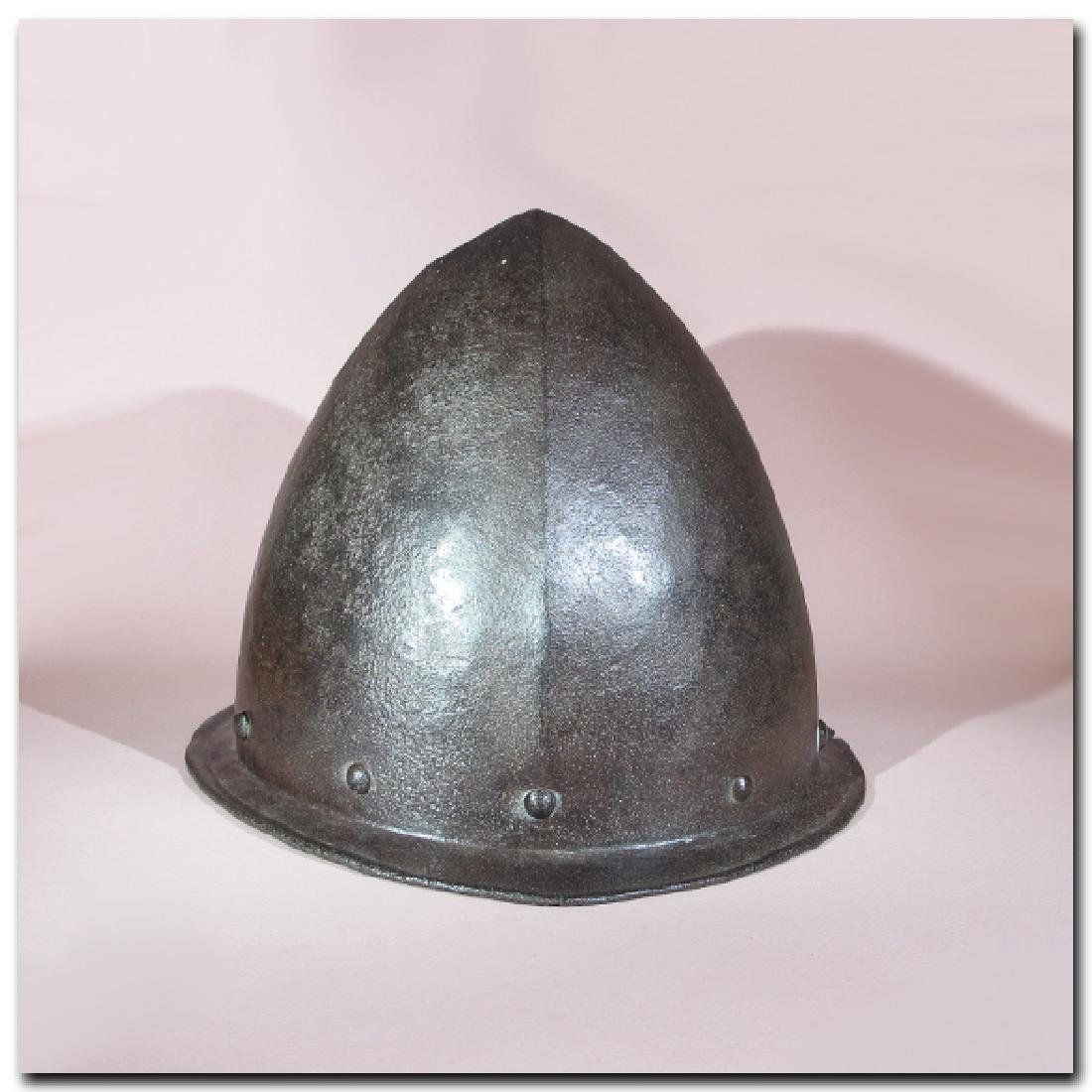 Spanish Steel Cabasset Helmet, 16th Century A.D. - 3