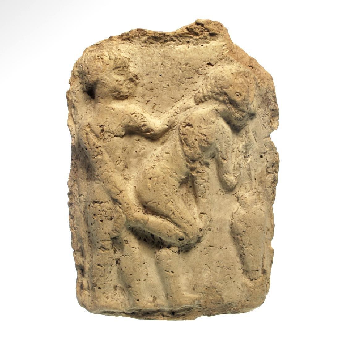 Babylonian Erotic Plaque, c. 1800 B.C.