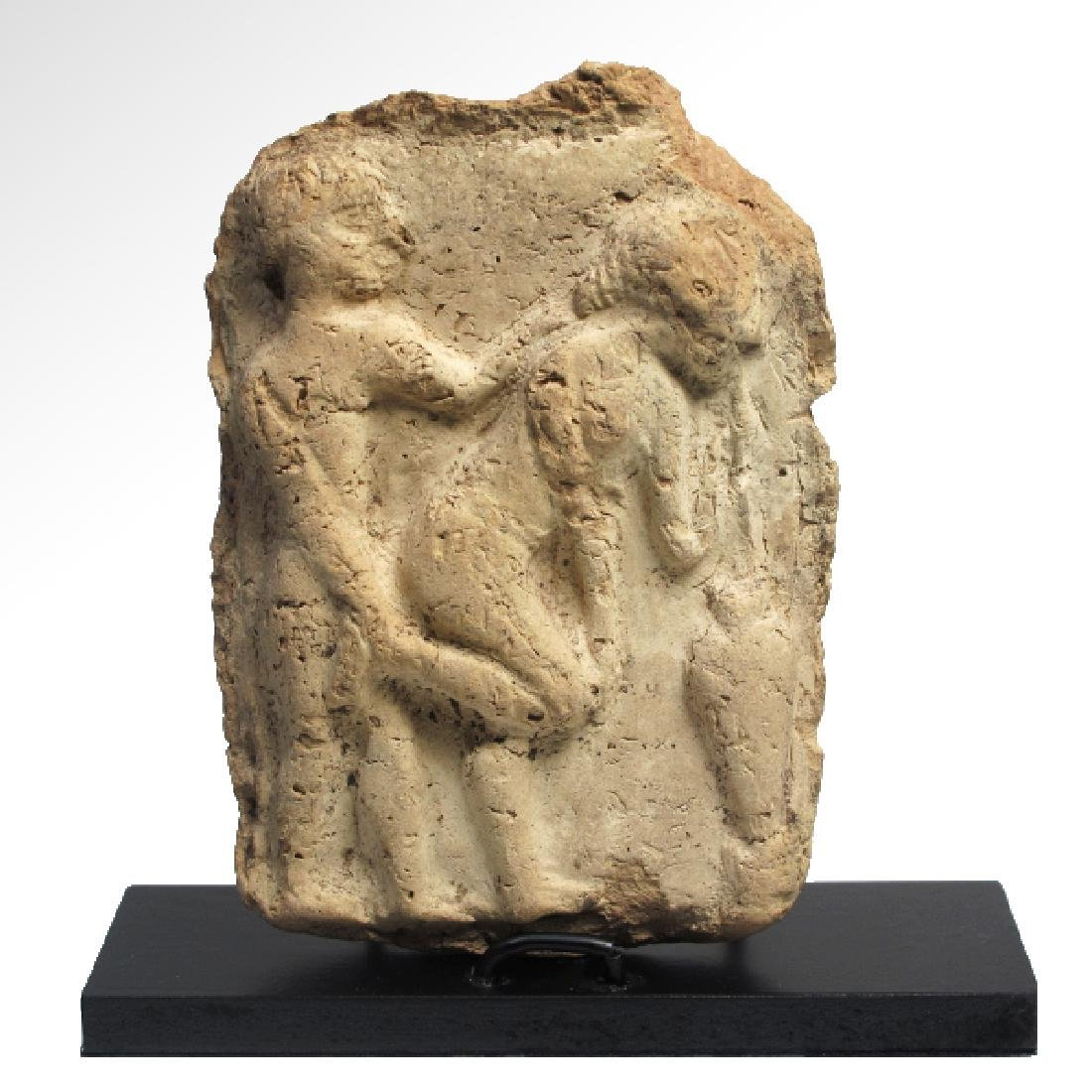 Babylonian Erotic Plaque, c. 1800 B.C. - 2