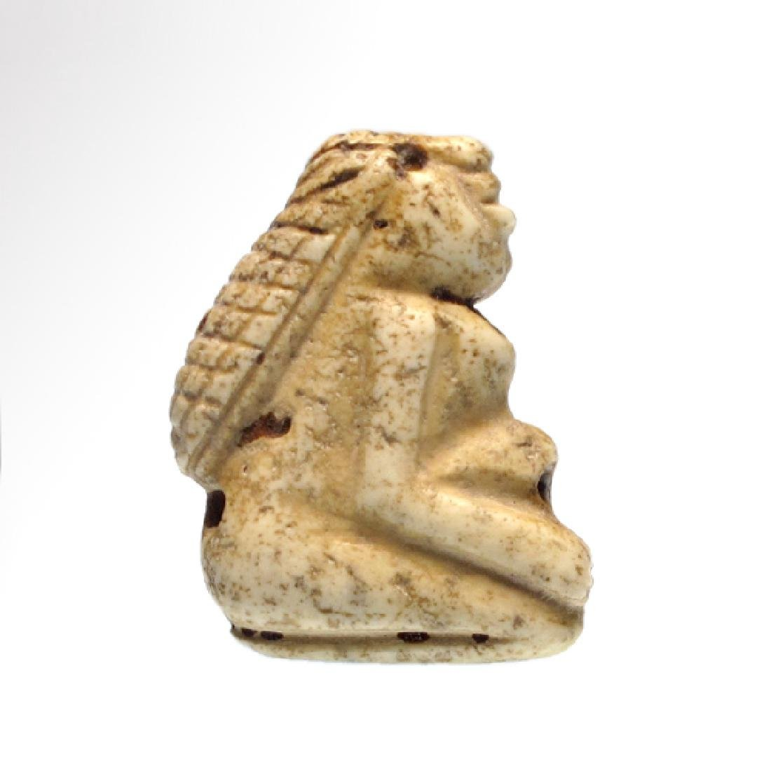 Sumerian Limestone Figure of a Lady Worshipper Seal, c.